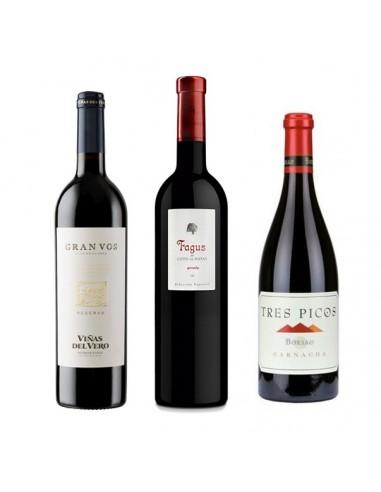 Tres Picos, Gran Vos y Fagus, tres grandes vinos aragoneses a un precio imbatible.