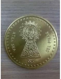 Moneda oro chocolate Pilar